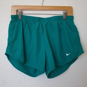 NIKE • Green Dri Fit Running Shorts • Size M